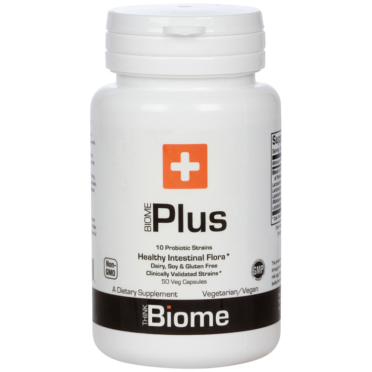 BIOME PLUSUltra-Potent Broad Spectrum Probiotic - 10x STRONGER THAN MOST PROBIOTICS ultra-potent 50 billion CFUsPROMOTE HEALTHY INTESTINAL FLORA, fortify your gut microbiome!10 CLINICALLY VALIDATED PROBIOTIC STRAINS plus prebiotic FOSSTOMACH ACID RESISTANT STRAINSDAIRY, WHEAT & GLUTEN FREE - Vegetarian/Vegan Formula