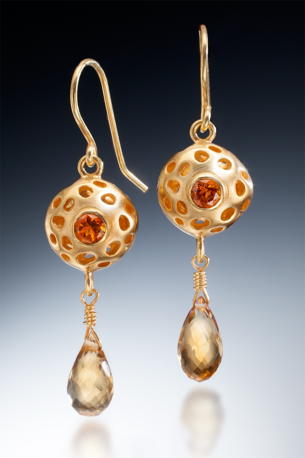 Honey Drop Earrings (vermeil)