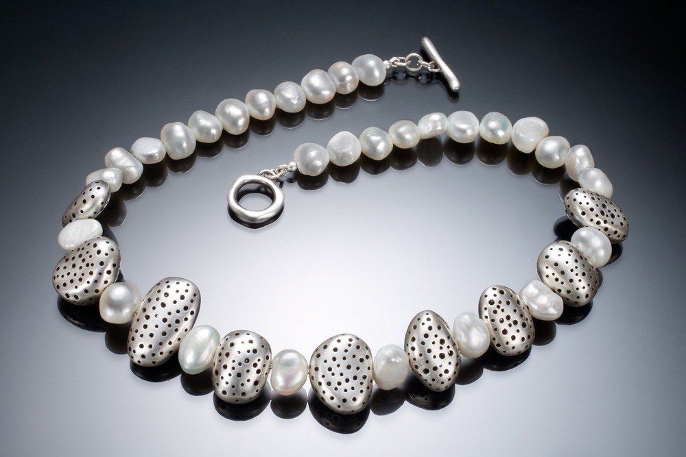 Pebbles and Pearls Necklace