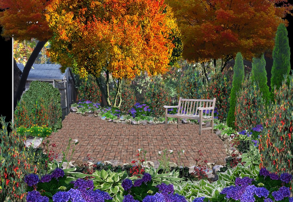 Back Patio, Design Rendering  Boston, MA