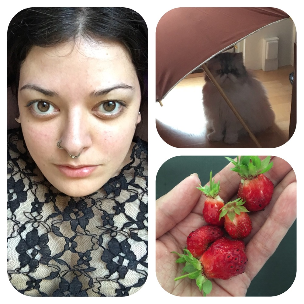 No makeup, Indira &strawberries