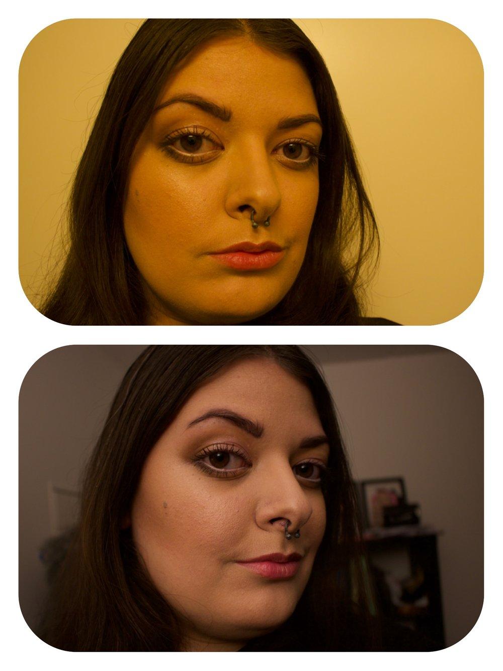 Same makeup different light!