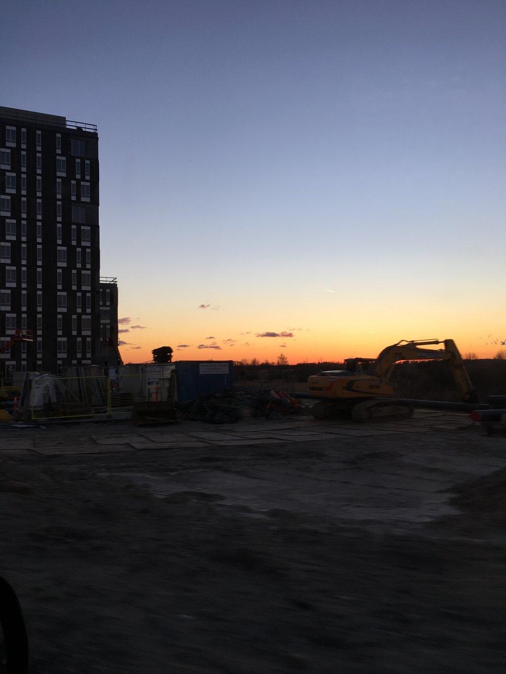 Sunset at Ørestad Syd