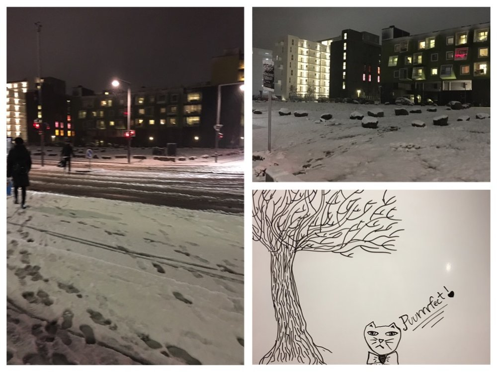 Snow at Ørestad