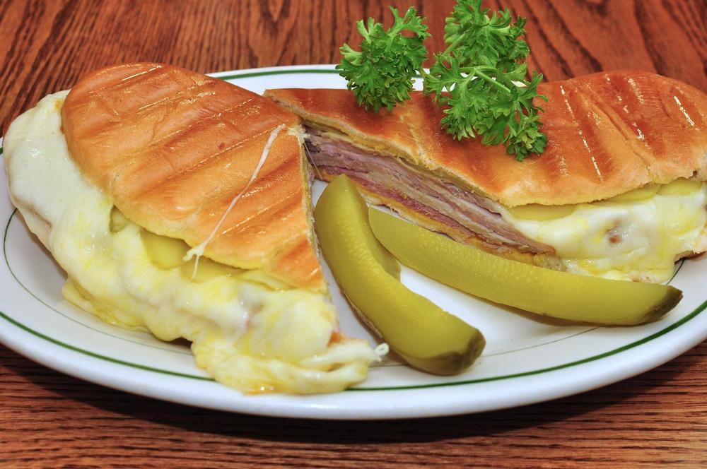 The traditional Cuban sandwich: A marriage of pork, pork, fat and carbs. And pickles.