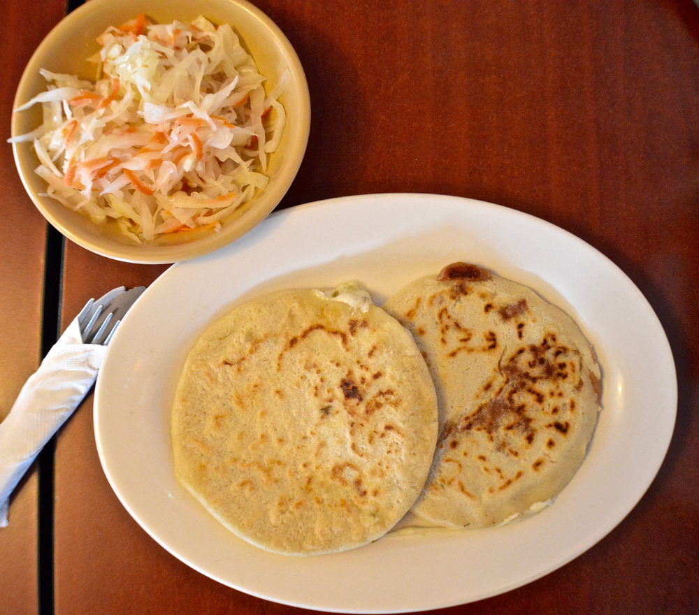The pupusas at Tu Casa are an insanely filling and reasonable lunch at $1.99 per piece.