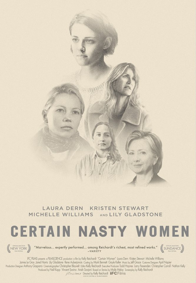 after the third presidential debate the distributors made an alternate poster-version of the film Certain Women, by Kelly Reichardt