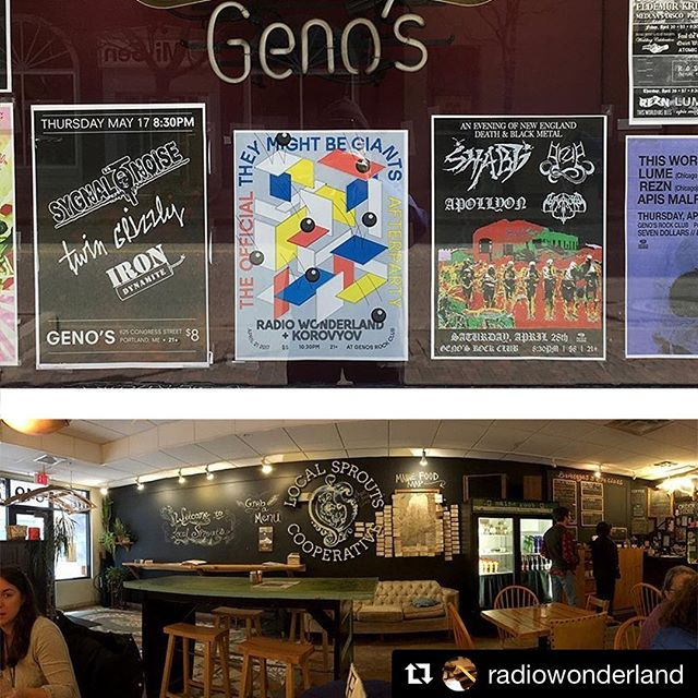 #PSA to #touringbands feeding your #vegan #hippie #bassplayer treats from @localsproutscafe before a gig guarantees a good performance #Repost @radiowonderland ・・・ == It's fun to drive up the night before a gig. == #tmbg #radiowonderland #soundart @genosportland @wingclubpress  @theymightbegiants @postmadbills ⠀ @wizard_fight_  @thewestendnews