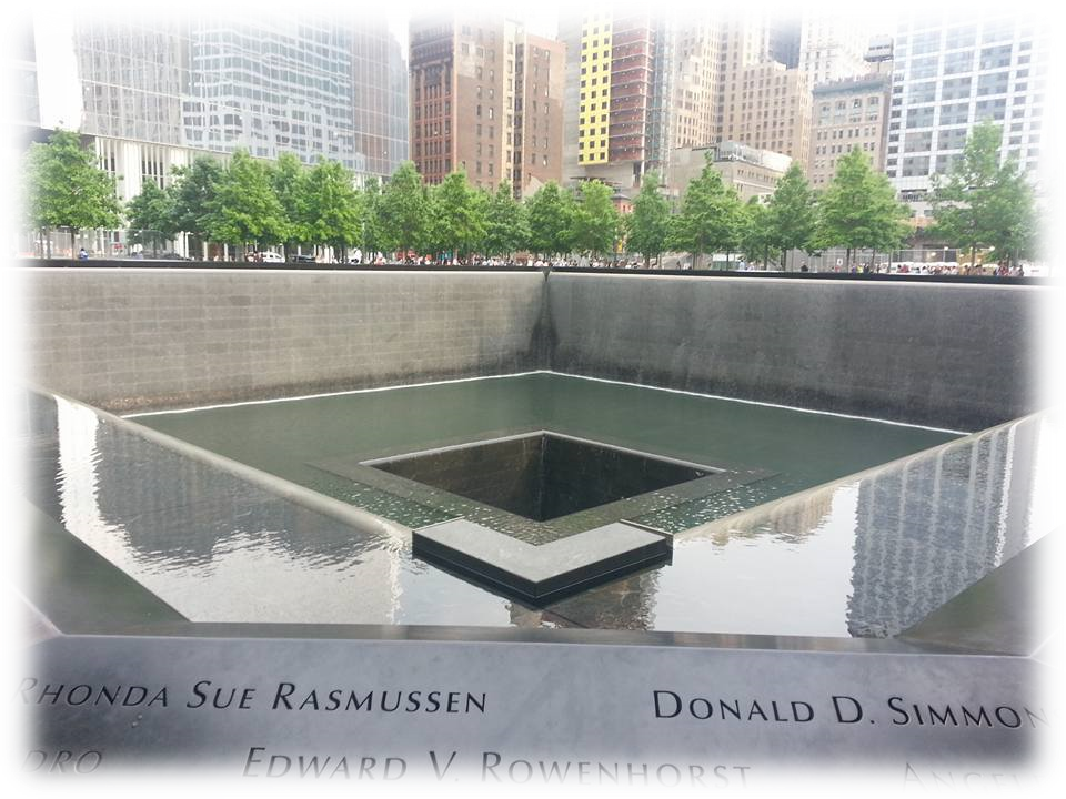 Reflecting pool at the memorial.