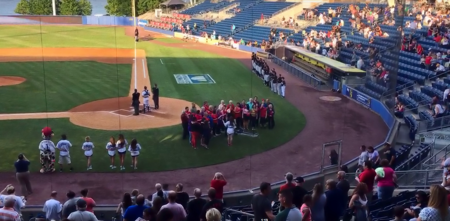 take us out to the ballgame: choir sings at the staten island