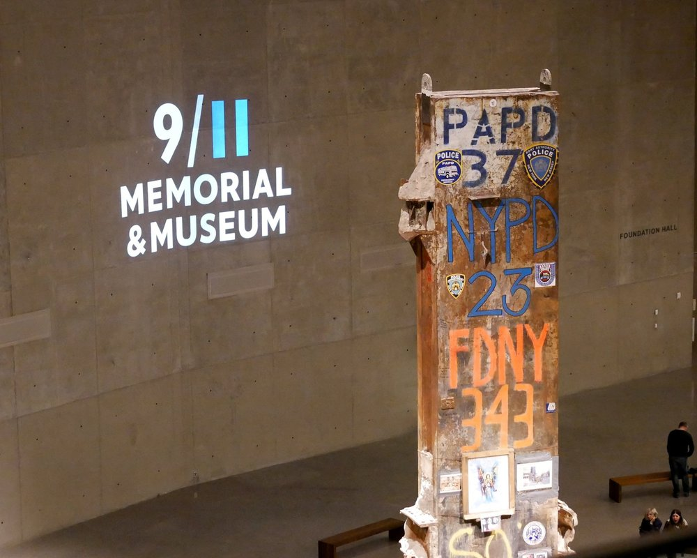 9-11 Memorial Museum Logo reflected on wall.jpg