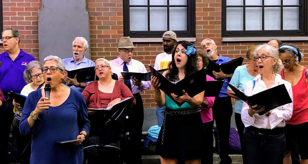 "The choir performs ""Lift Us Up"" on The High Line."
