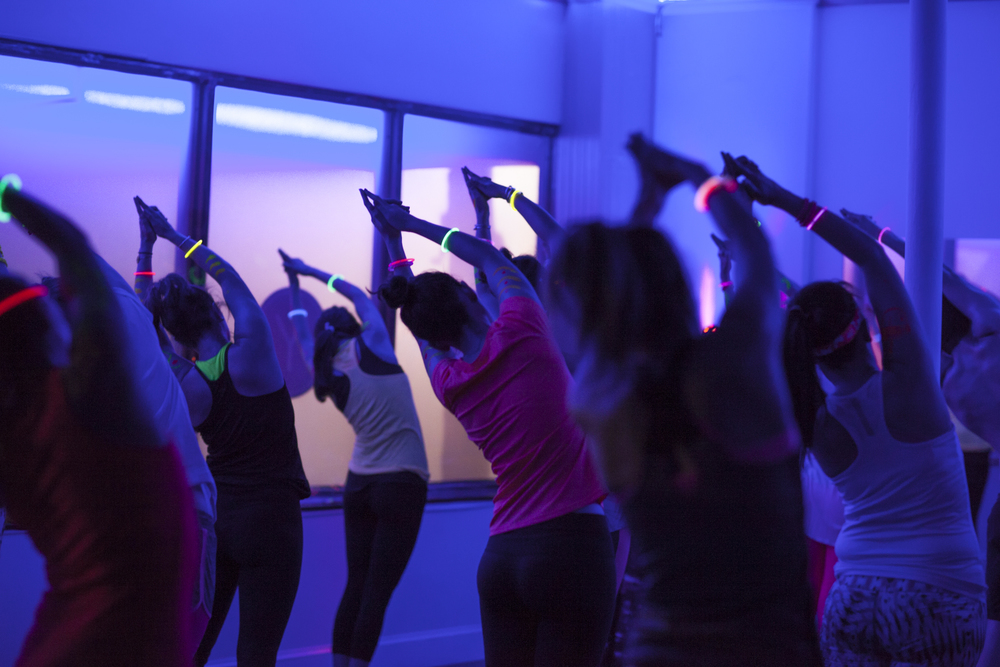 glow yoga dance party
