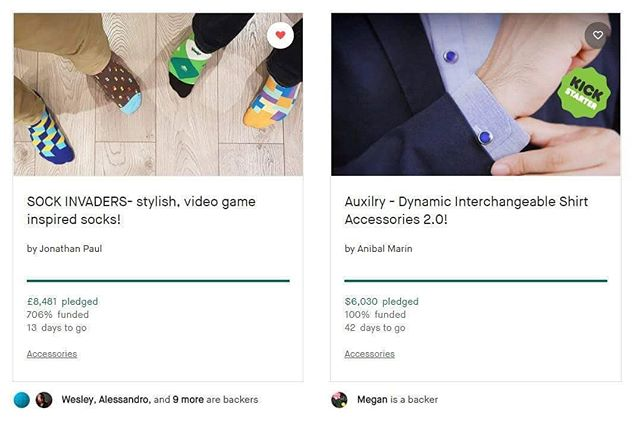 Wow! Interestingly enough a sock project I had designed has been funded and sitting next to my project on Kickstarter. It's as if I had 2 projects on Kickstarter! 142% funded and 34 days to go!!! Check it: http://kck.st/2EZrUGy Thanks for the support! Kickstarter🙂