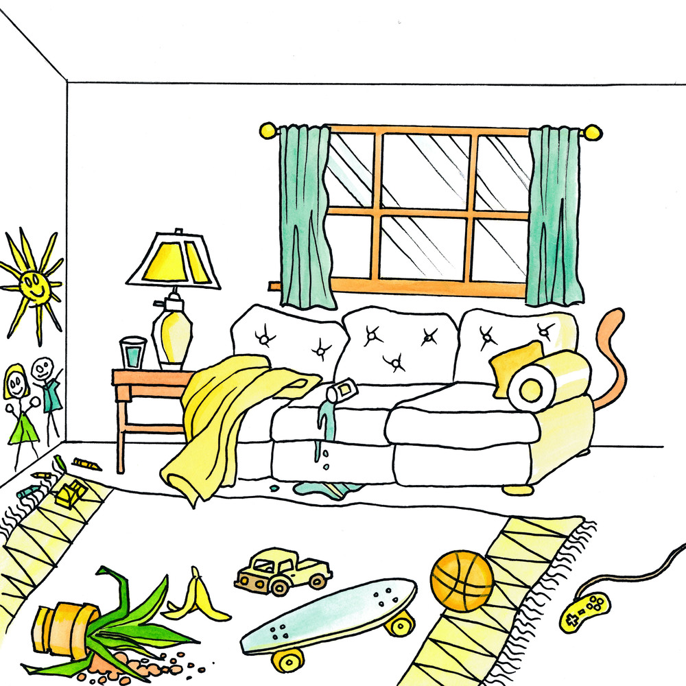 Messy Bedroom Art