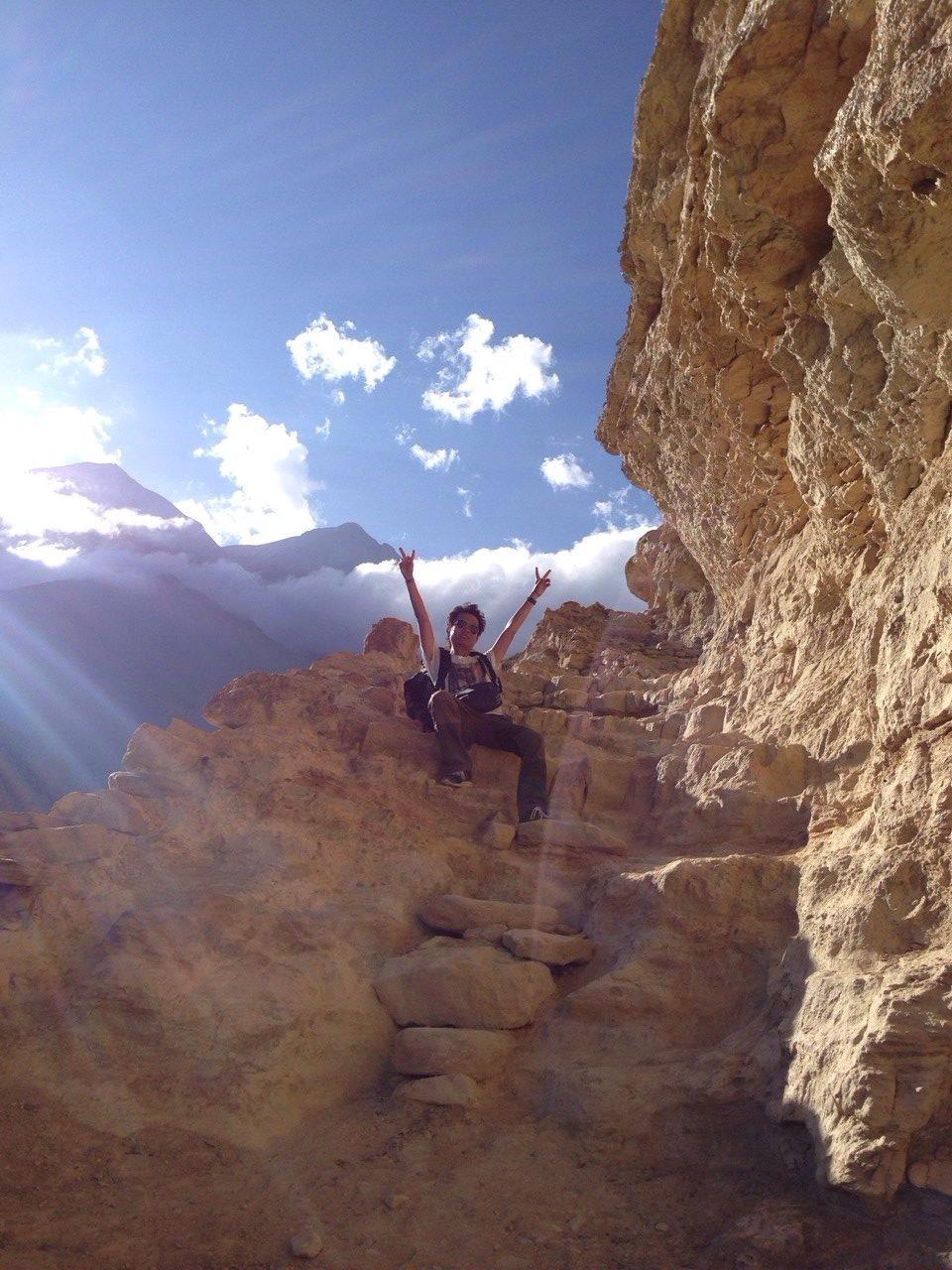 Weaver Jigme climbing mountain