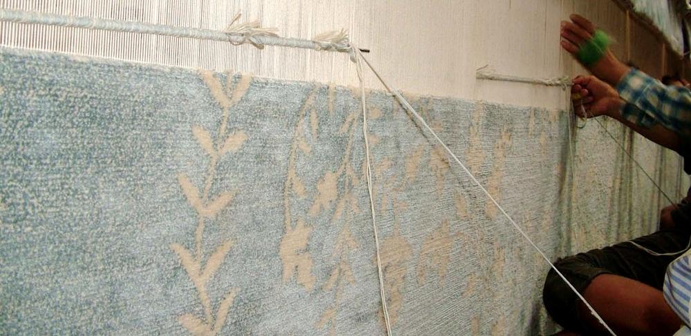 Carpet on loom