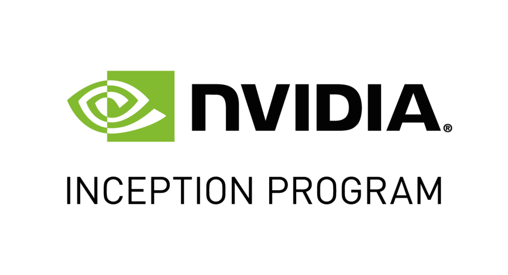 Grean-and-black logo for the NVIDIA Inception Program.