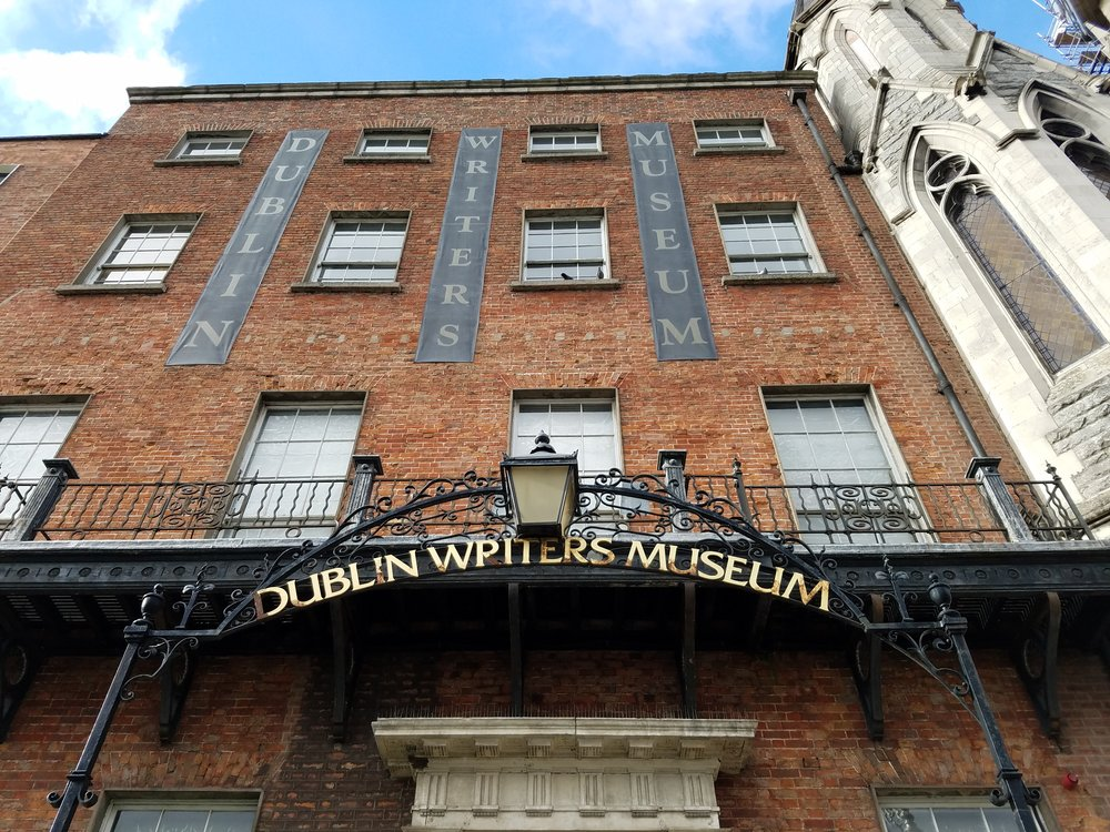 More quaint than interesting (thanks to primitive displays and long-winded content) the  Dublin Writer's Museum  was located in a beautifully-restored building, with rooms of gilded wallpaper and intricate ceilings illuminated by crystal chandeliers.