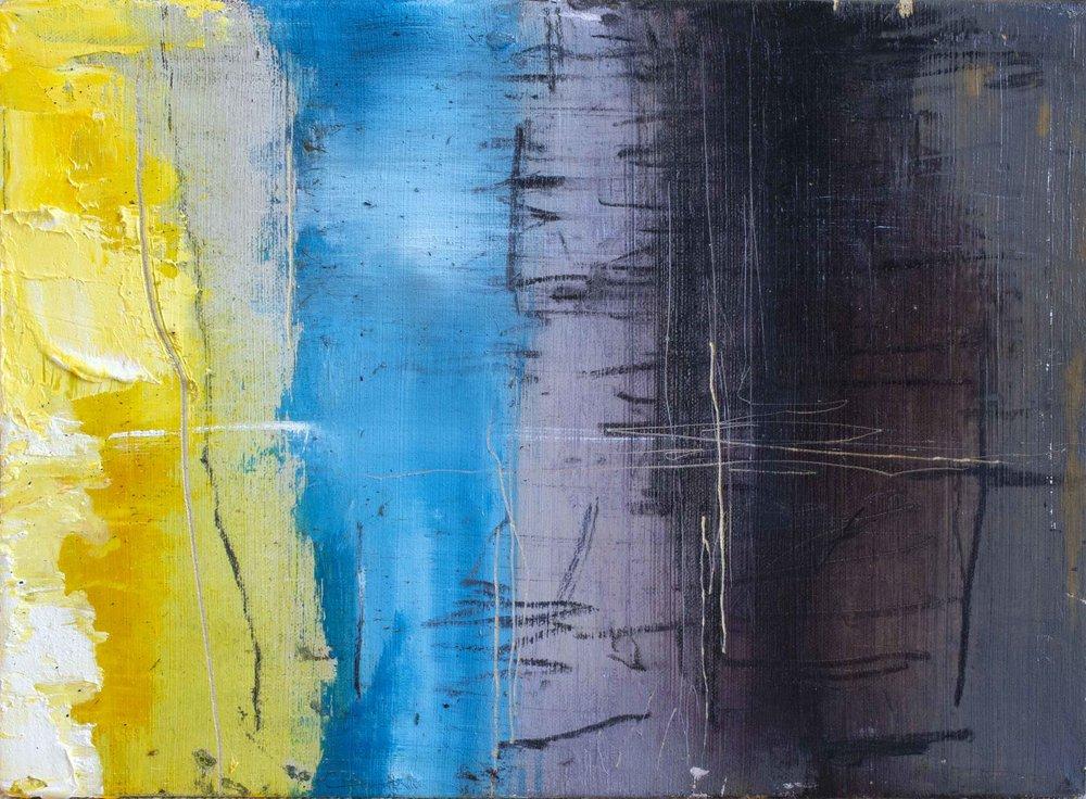 "'Thames Estuary Sunset' Oil on Canvas, 11"" x 15"" £400"
