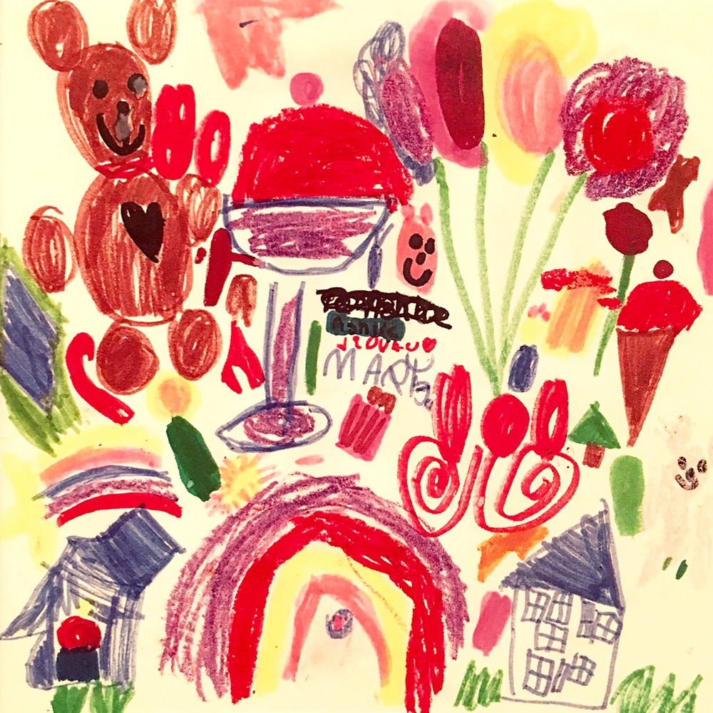 "MJM art circa 1992: Ice Cream, rainbows, flowers, candy, even a house- I guess that must have been my ""dream house"""