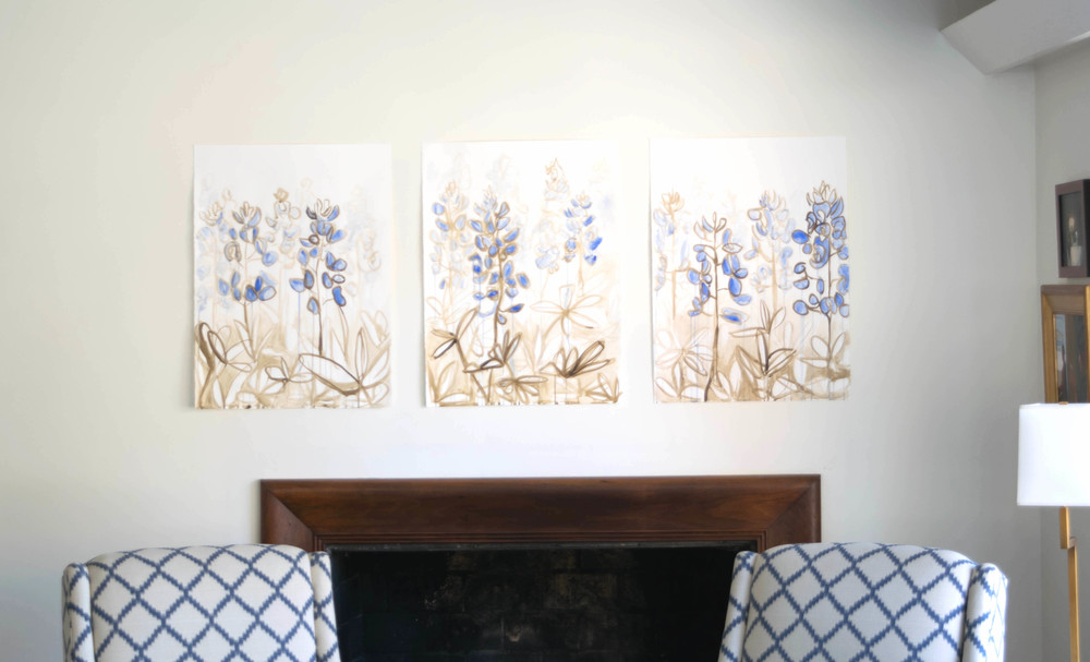 Bluebonnets I, II, II by Mary Jo Major