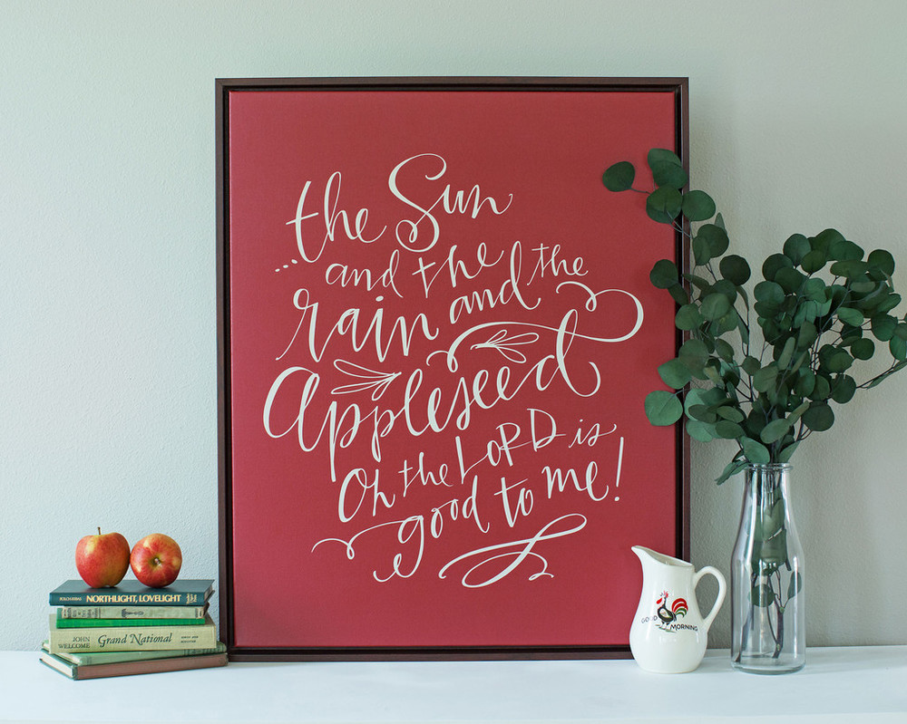 Johnny Appleseed Canvas by Lindsay Letters