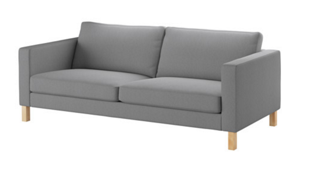 We would actually switch out the legs on this sofa for the legs shown below.