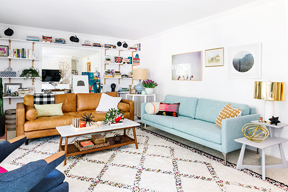 Photo credit by Little Green Notebook, Bryght sofa's shown