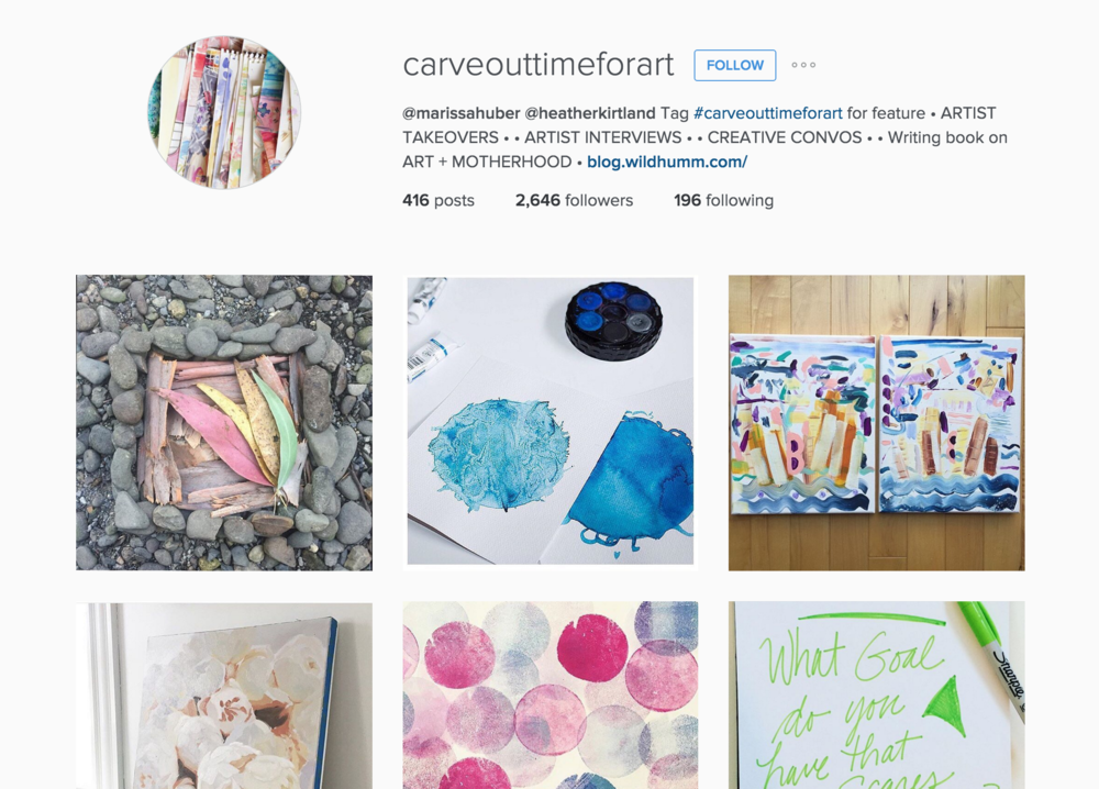 Carve Time out for Art Instagram Feed