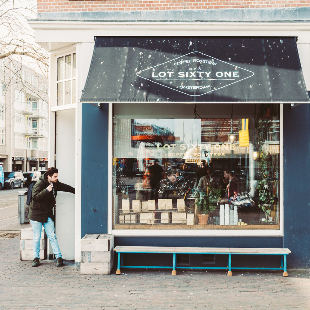 Lot Sixty One Coffee Roasters in Amsterdam - View from outside 3