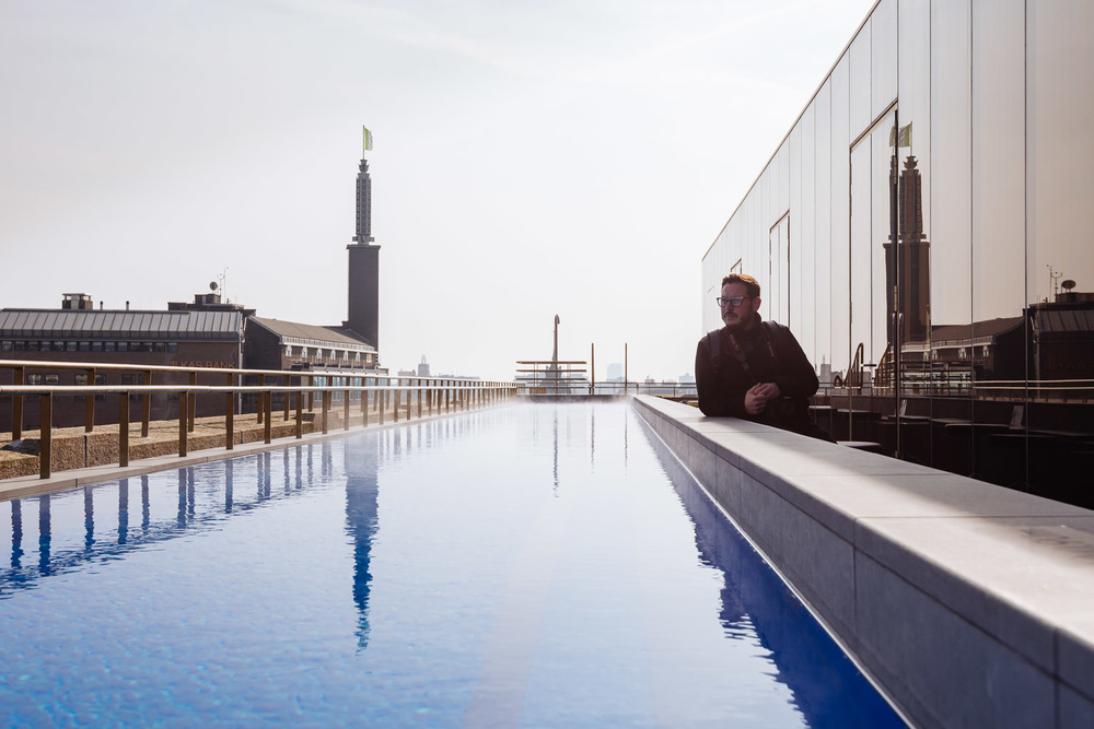 Rooftop terrace at W Hotel in Amsterdam