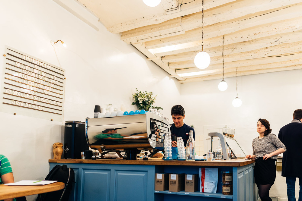 Barista at Telescope Coffee in Paris