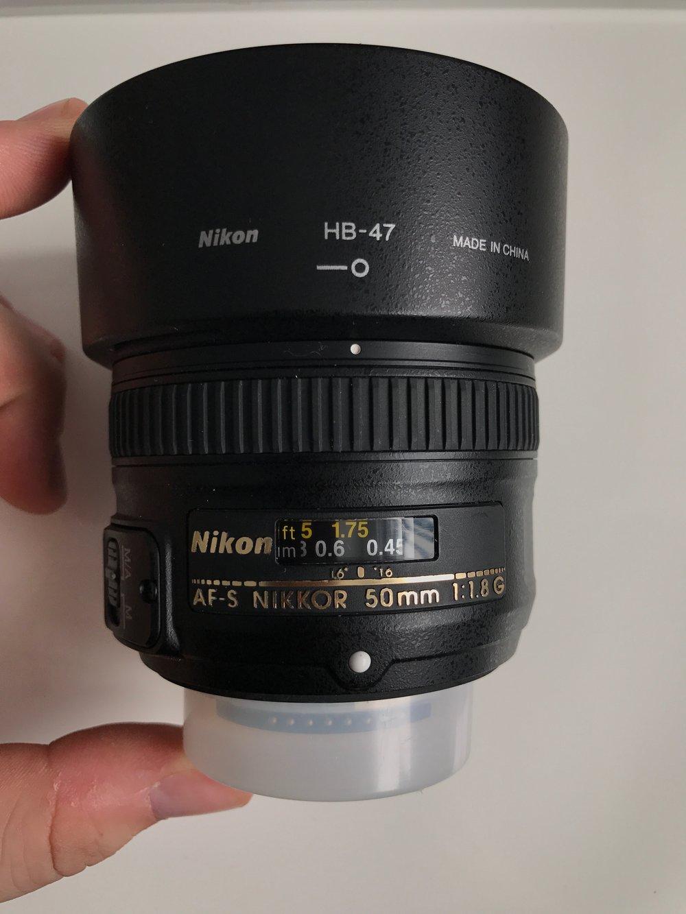 Nikon AF-S NIKKOR 50mm f/1.8G / Lien vers Kijiji