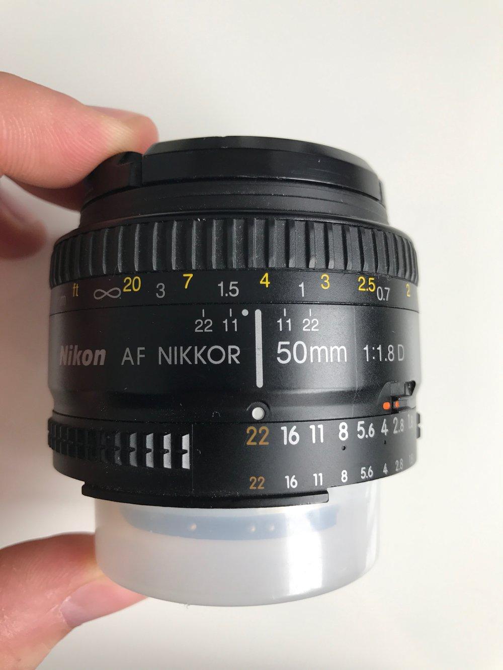 Nikon AF 50mm f1.8D/Lien vers Kijiji