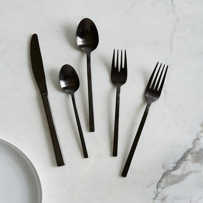 Black utensil set by west elm - HOME GIFT IDEAS - THE ULTIMATE GIFT LIST FOR MODERN MEN