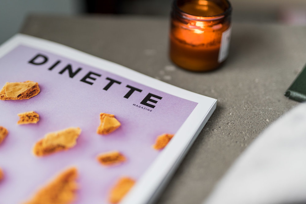 Your favourite magazine. Here I recommend the latest Dinette Magazine which is awesome.