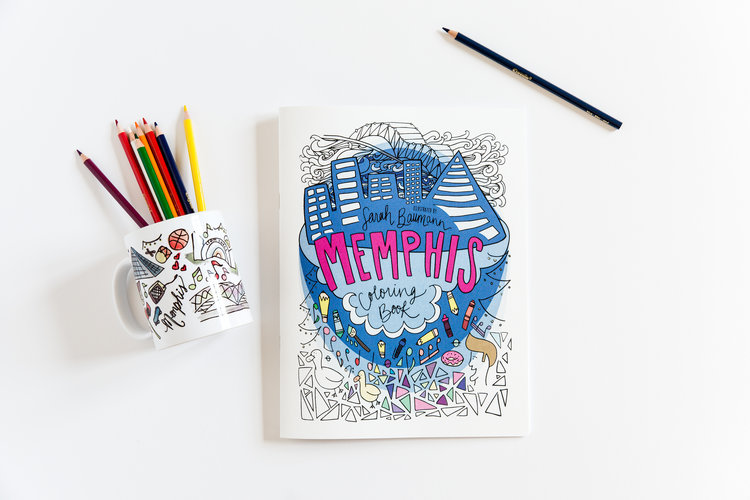 memphis coloring book