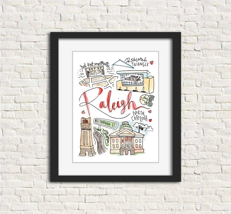 Raleigh, NC Print — Signet Sealed