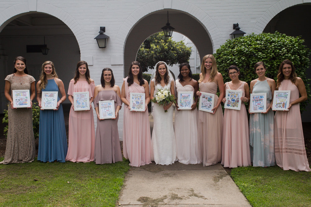 How amazing is this?? LOVED how Kathryn used the prints as bridesmaid gifts!!