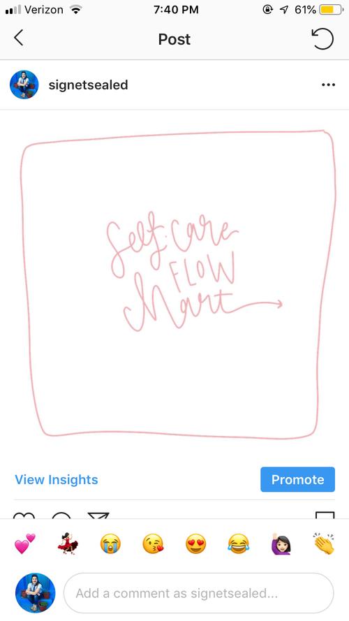 Self Care Sunday Free Printable Flow Chart Signet Sealed