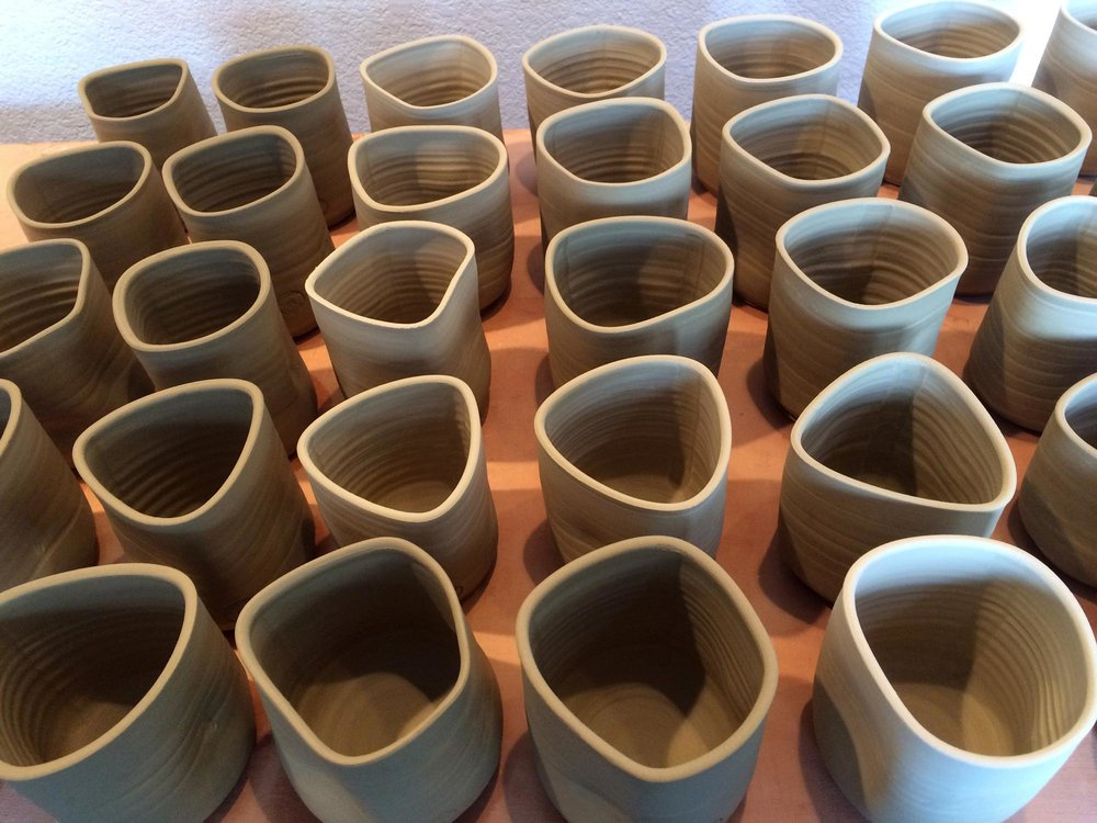 """Memory Cups"" made for What Is, Was Exhibit"
