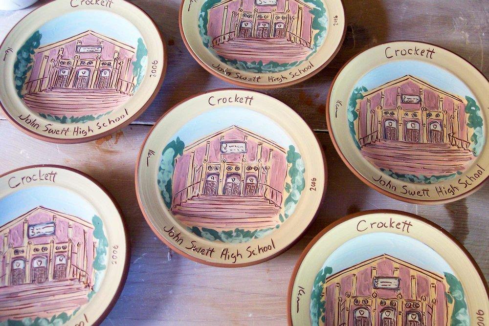 Scenic Souvenir Plate Painting Process