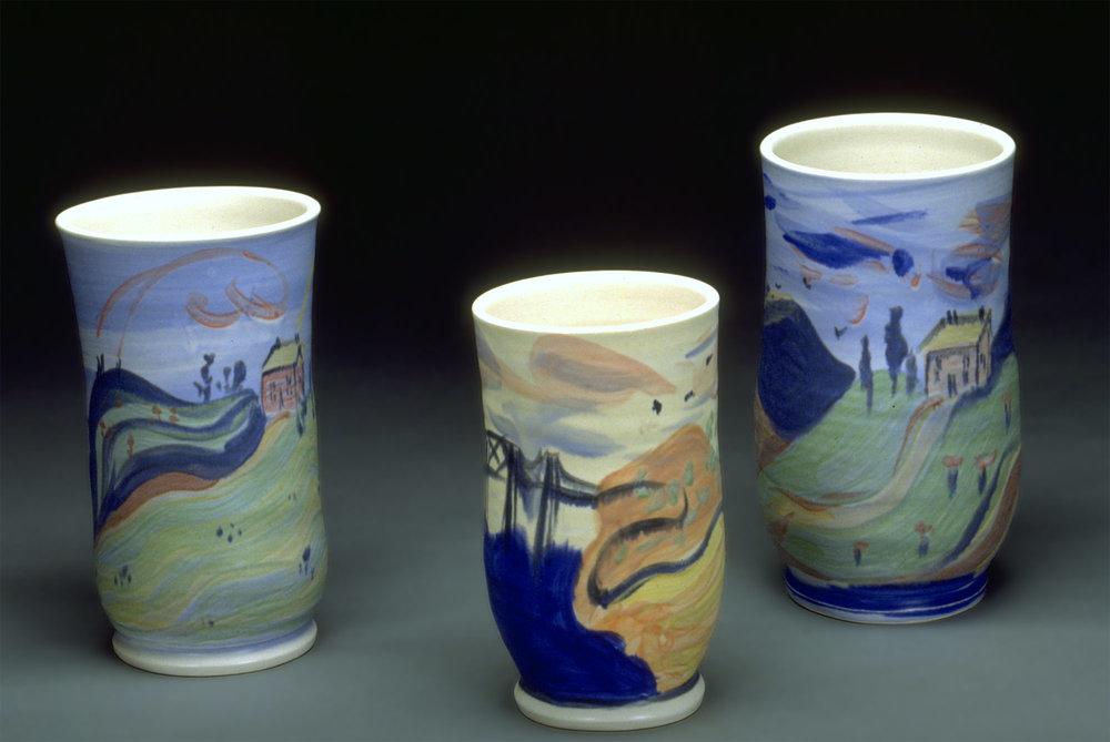 Scenic Souvenir Vases