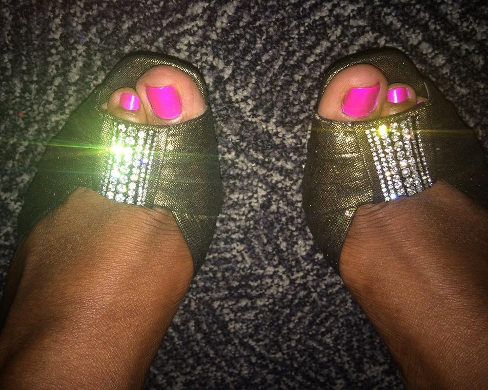 "Last night's ""ruby"" slippers.  #fashionshow    #purplewarriors  #WomenAgainstAbuse"