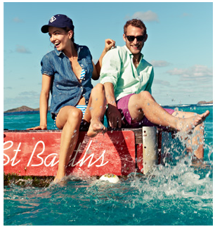 J Crew St Barths Andreea Diaconu and Will Chalker