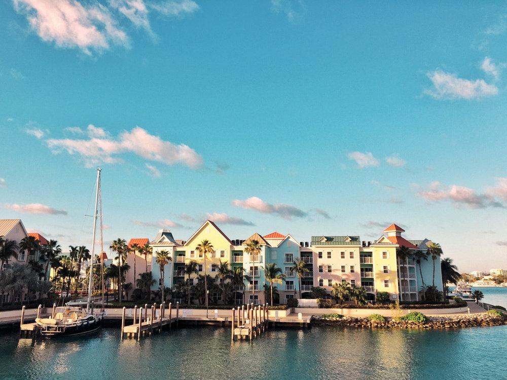 nassau bahamas colorful houses