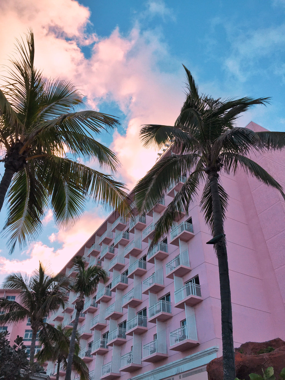 pink hotel in bahamas