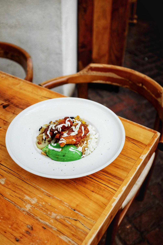 beautiful dish at colonia verde