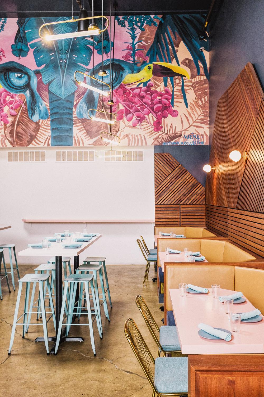 interiors of chicha cafetin bushwick